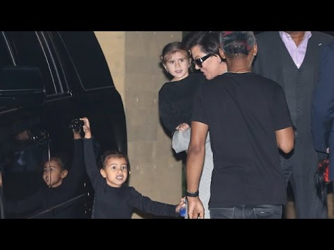 Kris Jenner With Nori And Penelope At Nobu