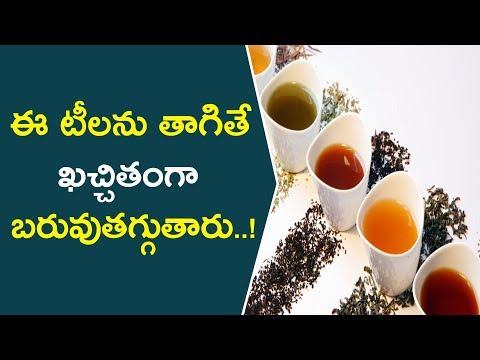 ఈ టీలను తాగితే ఖచ్చితంగా బరువుతగ్గుతారు..!  How To Lose Weight With Different Tea's  Health Care