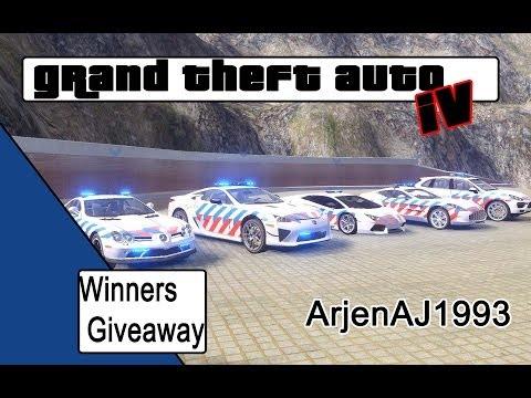 GTA 4 WINNERS Supercar giveaway