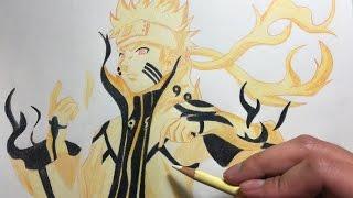 Drawing Naruto Kyuubi Mode (Bijuu Mode)