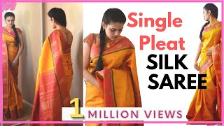 Video How to drape saree | Silk saree with single pleat MP3, 3GP, MP4, WEBM, AVI, FLV Mei 2018