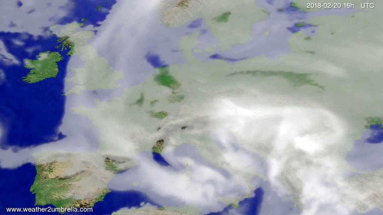 Cloud forecast Europe 2018-02-17
