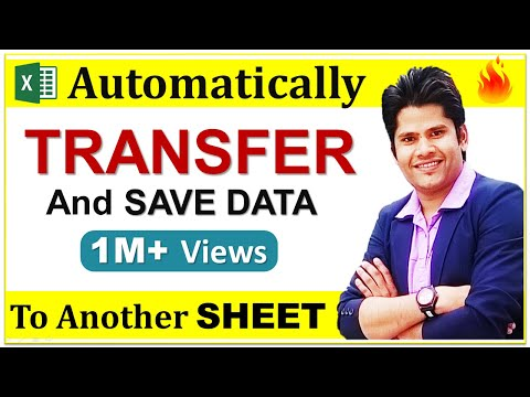 auto transfer and Save data from one sheet to another