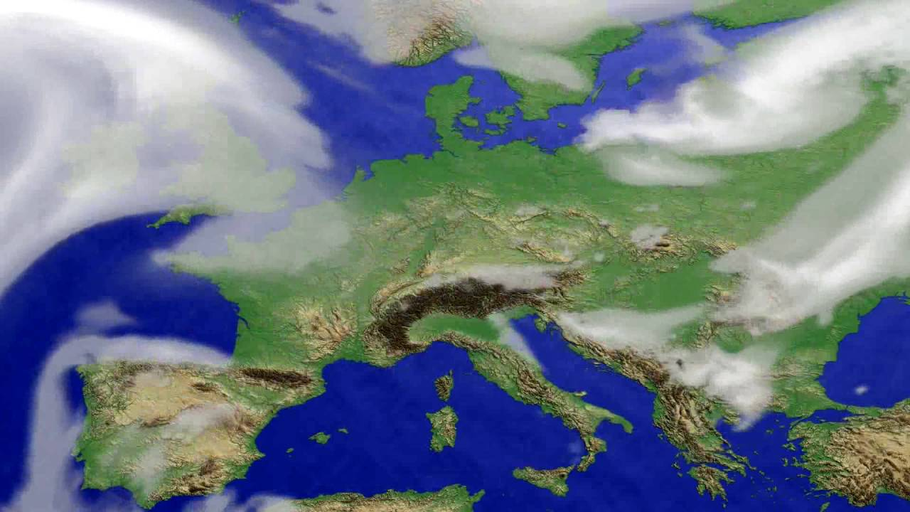 Cloud forecast Europe 2016-07-03