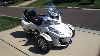 5. 2014 Can-Am Spyder RT Limited startup, engine and in-depth tour