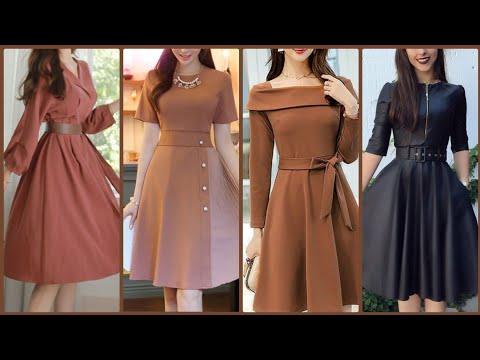 Play this video Gorgeous fashionable Party wear skater dresses collection for women and Girls 2020