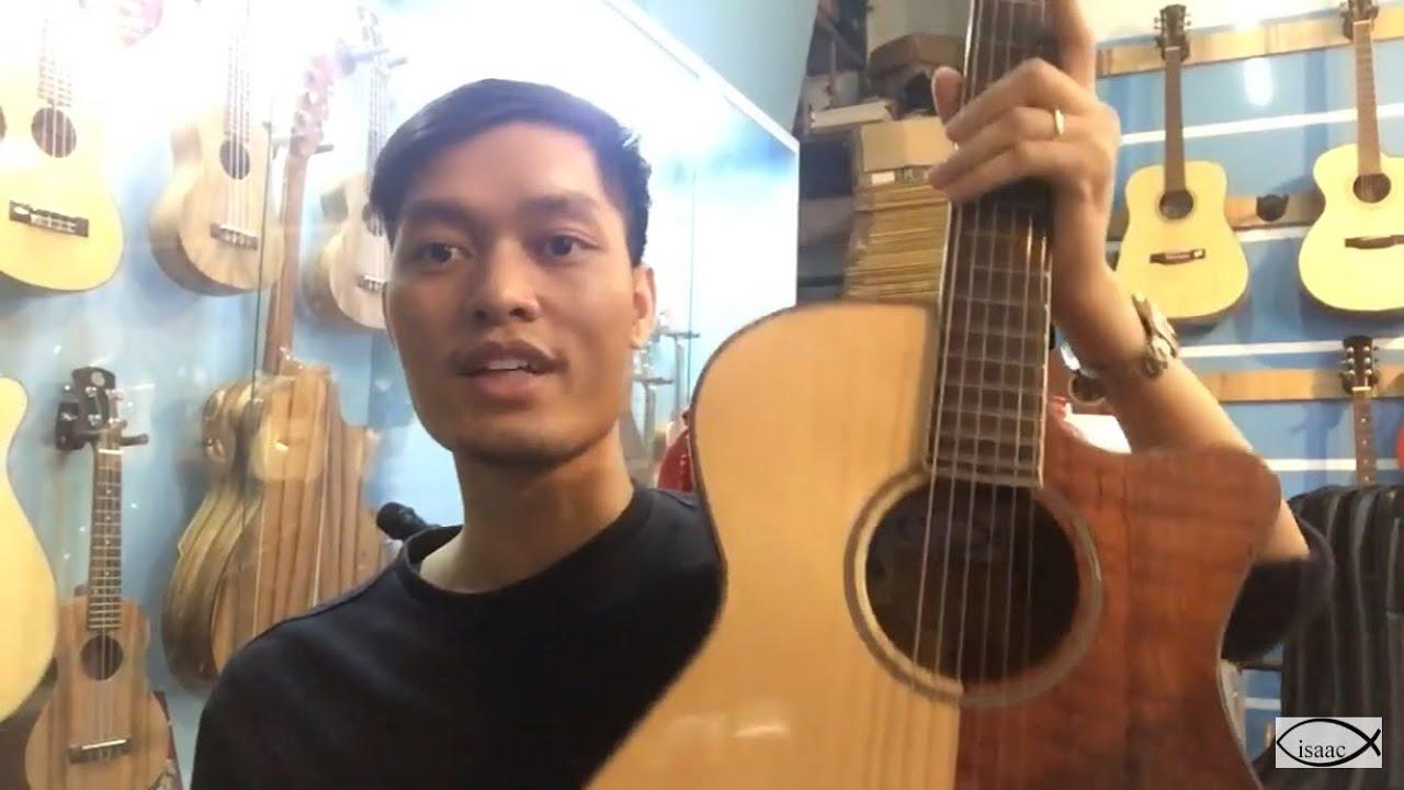 [Review] Guitar Acoustic 2 triệu 2 với bài hát Thánh ca Chúa của thành phố này.