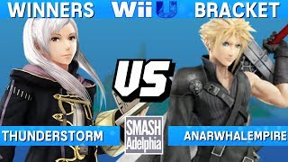 This Super Smash Bros. 4 Wii U tournament match features Thunderstorm as Robin vs aNarwhalEmpire as Cloud. This Winners Bracket match at SMASHADELPHIA 2017 was livestreamed on 06/24/17.Enjoy the video? Hit the like button and drop a comment and let us know your favorite part. Share it with your friends and spread the hype!Check out our website:► http://clashtournaments.comWatch our live streams:► http://twitch.tv/clashtournaments► http://hitbox.tv/clashtournamentsFind us on social media:► http://facebook.com/clashtournaments► http://youtube.com/clashtournaments► http://twitter.com/clashtournament► http://instagram.com/clashtournamentsBe sure to Follow and Subscribe to us to keep up to date on all of our content. Click the bell next to the subscribe button to receive instant notifications on all uploads!