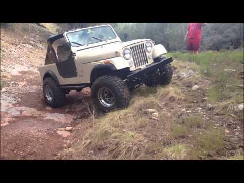 Lifted 1985 Jeep CJ7 Trail Riding
