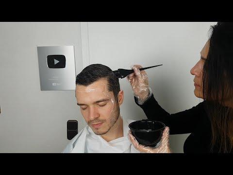 Hair salon - ASMR Dye His Hair *Hair Stylist Roleplay*