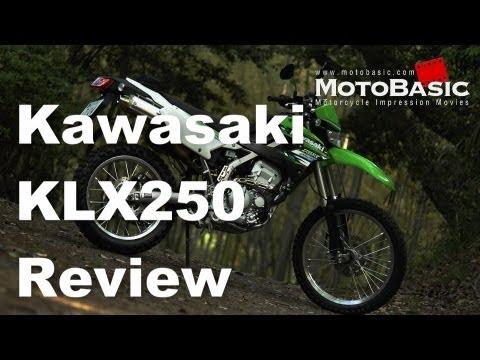 カワサキ KLX250 (2013) バイク試乗レビュー Kawasaki KLX250 (KLX250SDF) REVIEW