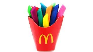 Play Doh Rainbow McDonalds Fries Easy