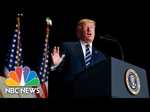President Donald Trump Attends Swearing-In Of New CIA Director Gina Haspel | NBC News (видео)