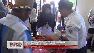 POLRES BANGKA BARAT GELAR SUNATAN MASSAL, BHAKTI KESEHATAN, DAN DONOR DARAH #TRIBRATA NEWS