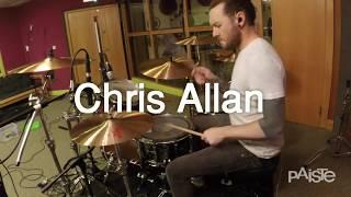 "In this video Chris plays:2002 Series15"" Sound Edge Hi-Hat18"" Crash22"" Power Ride20"" Medium Crash20"" Novo ChinaView Chris' Paiste Artist Profile: http://www.paiste.com/e/endorser_det.php?page=image&endorserid=6020"