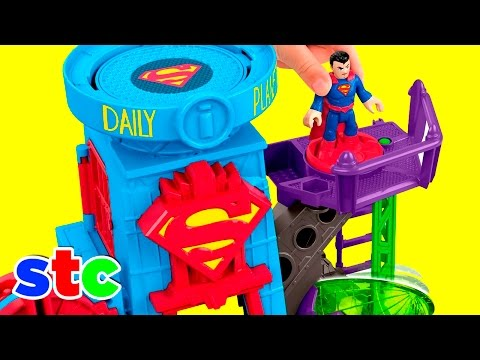 Fisher Price Imaginext DC Super Friends Superman Daily Planet (видео)