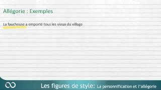 Figures de style – Allégorie et personnification