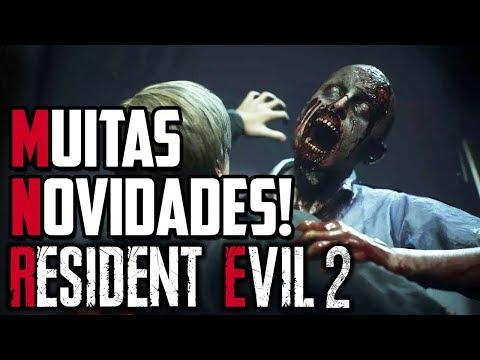 TODAS AS NOVIDADES DA GAMEPLAY ANUNCIADA DE RESIDENT EVIL 2 REMAKE!