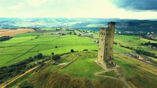 Huddersfield United Kingdom  city images : Drone over Castle Hill, Huddersfield, United Kingdom
