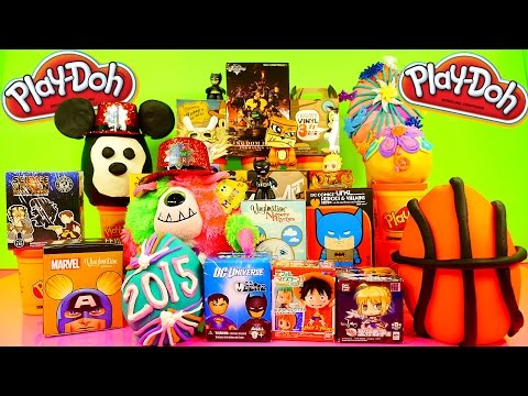 Play Doh Eggs Surprise Toys DC Marvel Disney Mickey Mouse Vinylmations Kingdom Hearts Playdough