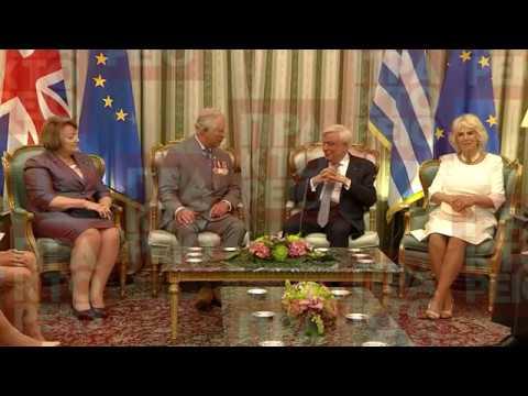 Συνάντηση Π. Παυλόπουλου με τον Πρίγκιπα Κάρολο της  Ουαλίας στο Προεδρικό Μέγαρο