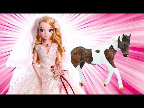 Красивые куклы Sonya Rose. Видео для девочек и лошадки | @GullGirl видео