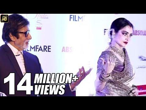 Video Rekha RUNS Away Seeing Amitabh Bachchan At Filmfare Style Awards Red Carpet download in MP3, 3GP, MP4, WEBM, AVI, FLV January 2017