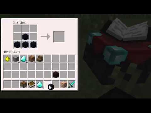 Comment construire une table d 39 enchantement dans minecraft - Minecraft comment faire une table de craft ...