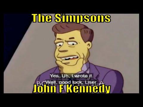 The Simpsons JFK   John F Kennedy president