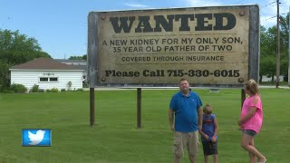 Mother uses a billboard to find kidney for son