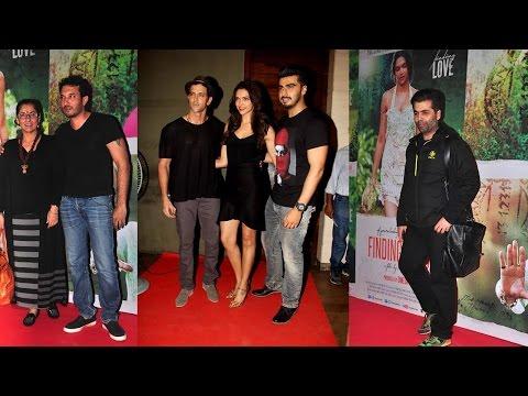 Hrithik Roshan, Deepika Padukone , Arjun Kapoor At Finding Fanny special screening
