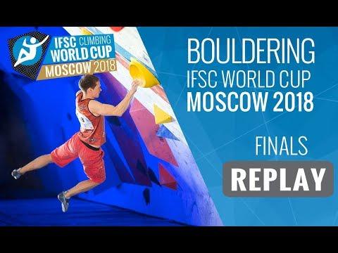 IFSC Climbing World Cup Moscow 2018 - Bouldering - Finals - Men/Women (видео)
