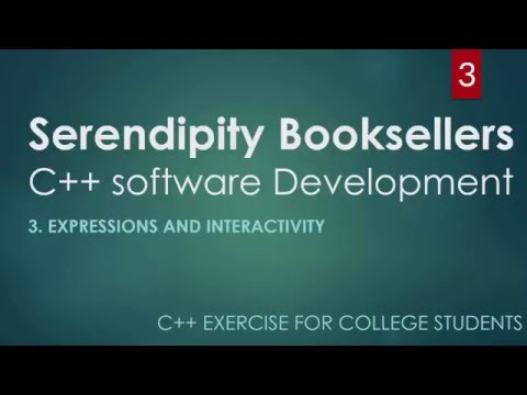 C++ Serendipity Booksellers College Project Part 3 – Expressions and Interactivity