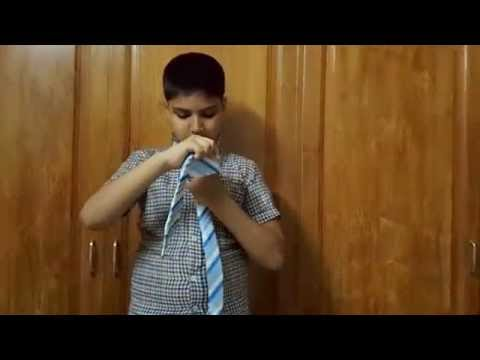 How To Tie a Tie - Quick, Easy Instructions from a 10 years old kid- Samaa Rashid
