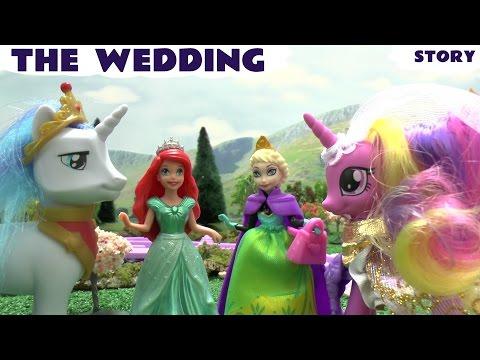 Princess Ariel Mermaid Magiclip Play Doh Frozen Queen Elsa Disney Story My Little Pony Wedding