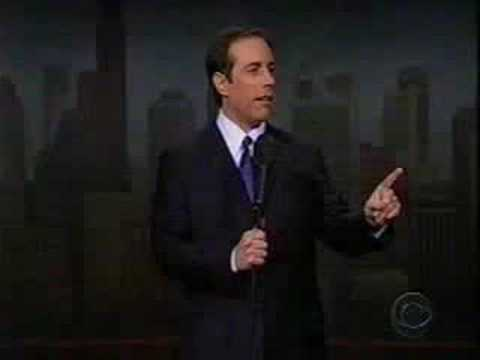 Jerry Seinfeld returns to Comedy on the Letterman show