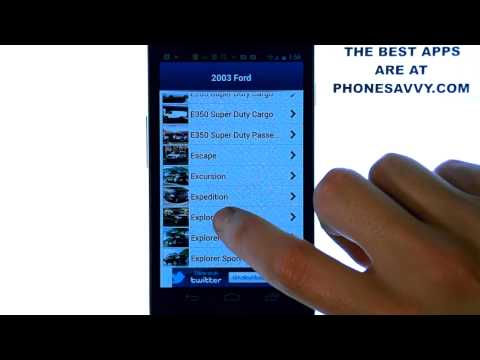 vehicle specs - http://PhoneSavvy.com This video will show you how to use the android app 'Kelley Blue Book', Which phonesavvy.com has selected as one of the best apps avail...