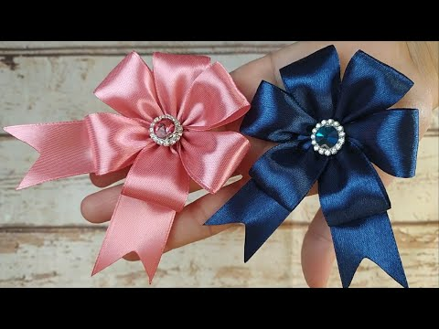 Satin Ribbon Flower | How to make Satin Ribbon Rose🌺🌺 DIY HOME