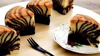 Zebra Cake Recipe | Chocolate Vanilla Marble Cakes | Sponge Cake 카스테라 만들기 カステラ Video