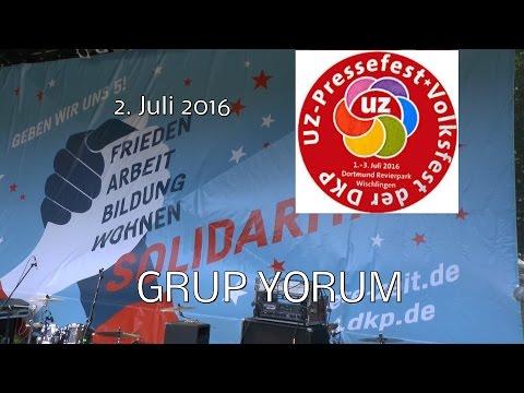 Grup Yorum beim UZ-Pressefest 2016 in Dortmund