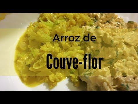 COMO FAZER ARROZ DE COUVE-FLOR COM AÇAFRÃO  VAMOS DIETAR