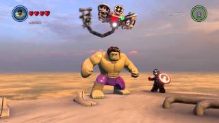 LEGO Marvel's Avengers - Hulk tries to Super Jump from Hellicarrier to Avengers Tower!