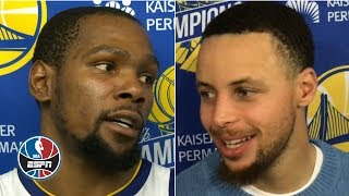 Kevin Durant, Steph Curry in awe over Dwyane Wade's game-winning shot vs. Warriors | NBA on ESPN