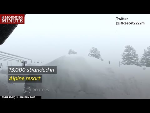Thirteen-thousand people are stranded in this Alpine ski resort in Switzerland