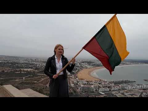 Lithuania 100 years birthday greetings from Morocco