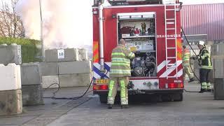 Forse buitenbrand in Bunschoten te zien vanaf de A1