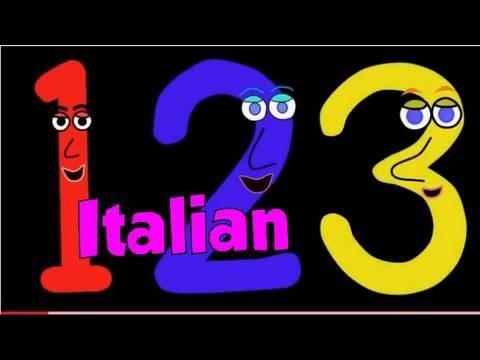 Italienische Zahlen lernen mit einem Song