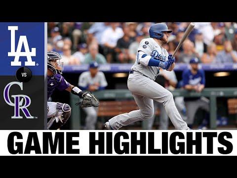 Dodgers vs. Rockies Game Highlights (7/17/21)   MLB Highlights