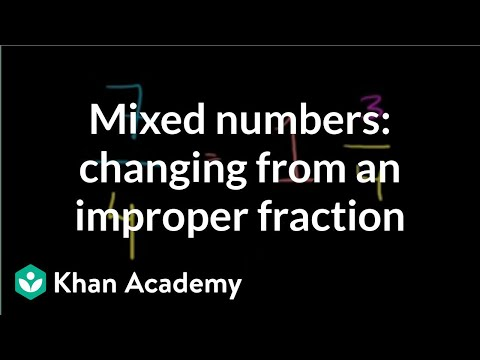 Rewriting improper fractions as mixed numbers (video) | Khan Academy