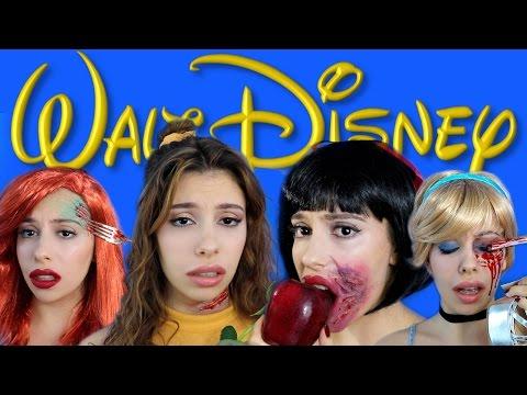 Dead Disney Princess Halloween Makeup!  | Julia Gilman